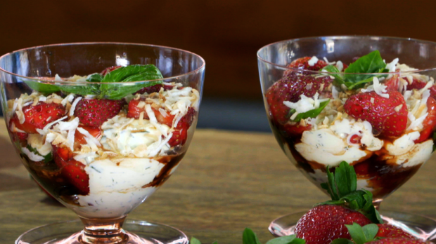 Article image for RECIPE: Emma Dean's 'Strawberries and Basil Cream'
