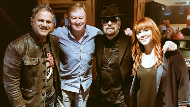 Article image for Jon Stevens, Vanessa Amorosi and Dave Stewart in studio with Denis Walter