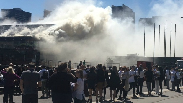 Article image for Fire at Woolshed Pub at Docklands
