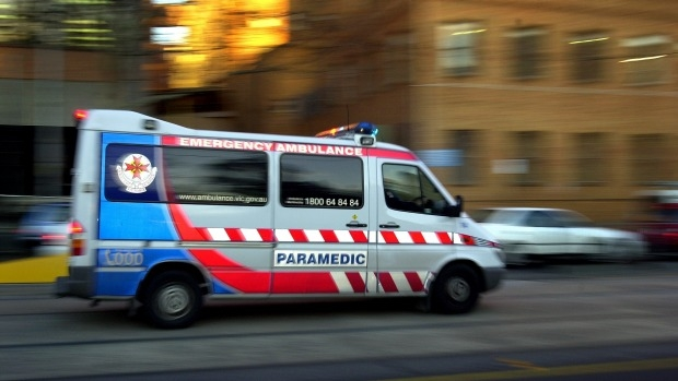 Article image for A woman is in hospital after her car collided with a tram in Melbourne's CBD
