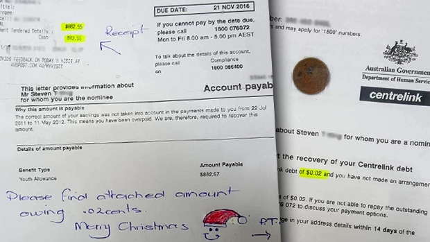 Article image for Rowville man pays Centrelink debt with two cent coin