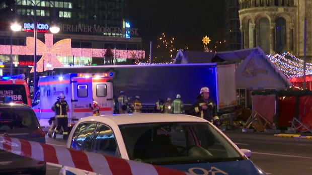 Article image for Truck plows into crowd at Berlin Christmas market killing twelve