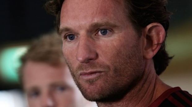 Article image for James Hird taken by ambulance to hospital after suffering 'major health scare'