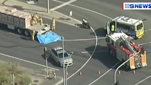 Article image for Female motorcyclist hit and killed by truck on Boronia Road, Wantirna