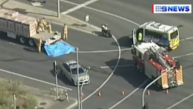 Article image for Policewoman struck and killed by truck at Wantirna