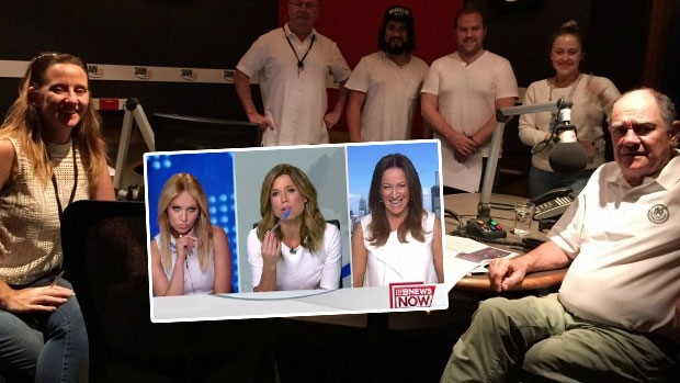 Article image for 3AW Breakfast crew all wear white to work on Friday after jacket saga on Channel 9