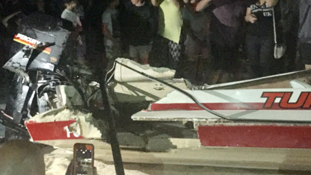 Article image for Boat sinks after collision with jet-ski at Portarlington