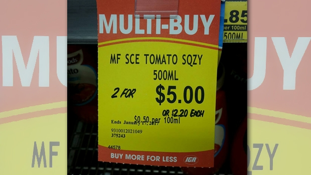 Article image for WORD ON THE STREET: Tomato sauce price confusion at IGA in Blackburn North