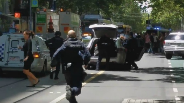 Article image for Five people killed, man arrested, as car plows through crowd on Bourke Street mall