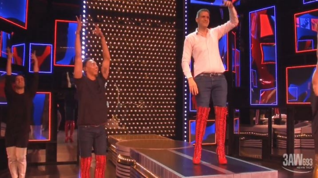 Article image for WATCH: Pat Panetta tries on some Kinky Boots!