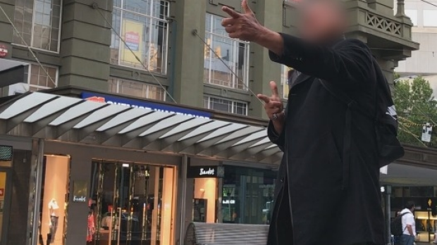 Article image for Man captured going on threat-filled rant at scene of Bourke Street rampage