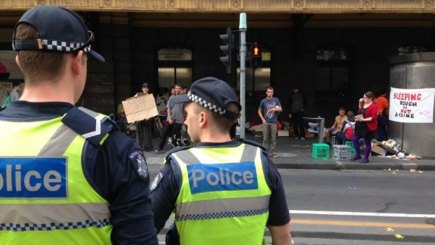 Article image for Melbourne Mayor Robert Doyle says the rough sleepers will be back outside Flinders St