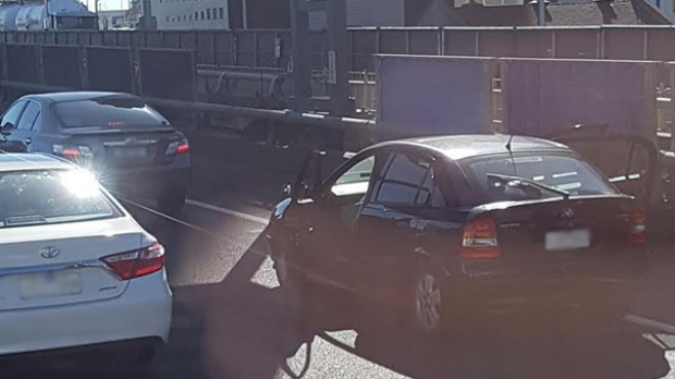 Article image for Man spotted driving with doors wide open through Burnley Tunnel
