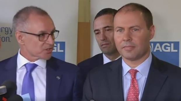 Article image for Jay Weatherill and Josh Frydenberg trade verbal barbs on live television