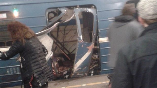 Article image for Several killed, dozens injured, in bomb blast on St Petersburg metro station
