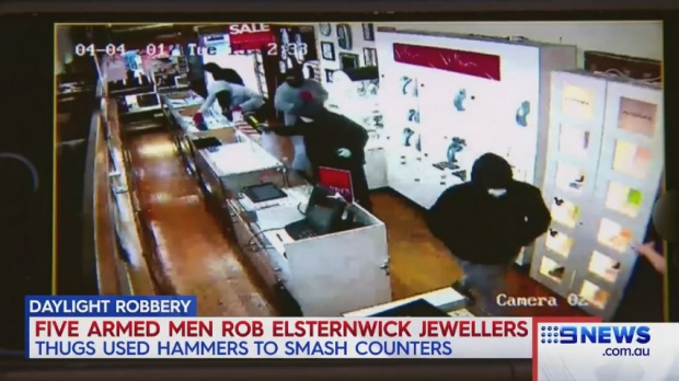 Article image for Terrifying daylight jewellery store robbery at Elsternwick