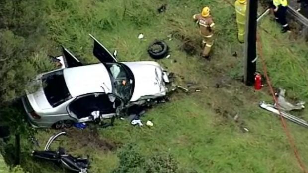 Article image for Man injured after crashing his car at Narre Warren North
