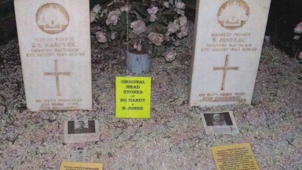 Article image for Australian War Memorial buys back gravestones of highly decorated World War II diggers