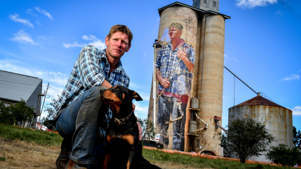 Article image for Farmer painted onto silo to attract visitors to rural communities
