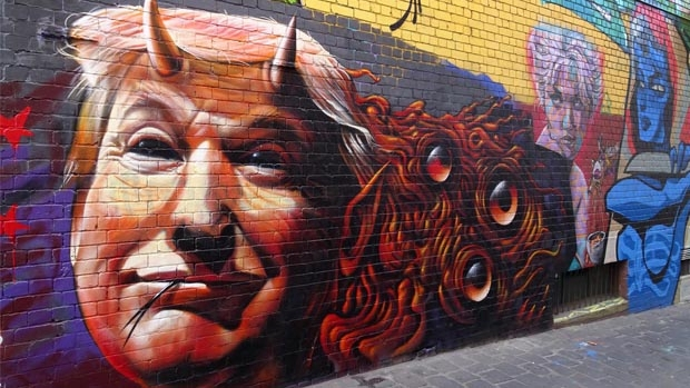Article image for Donald Trump mural at the Queen Victoria Market