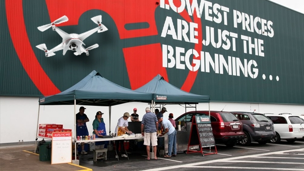 Article image for Sunbury man faces huge fine for using a drone to collect his lunch from Bunnings