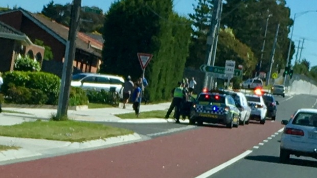 Article image for Explosive thrown at police, sparking dramatic pursuit ending at Hampton Park