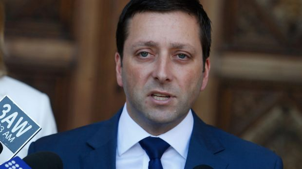 Article image for Opposition leader Matthew Guy outlines plan to get police into schools