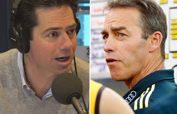 Article image for AFL boss hits back at Alastair Clarkson's 'integrity' claims