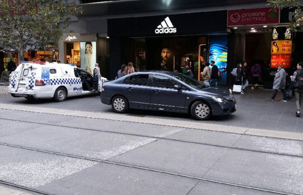 Article image for Caller concerned by car making its way into Bourke Street mall