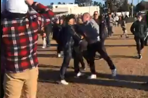 Article image for GROW UP: Police call for calm from parents punching on
