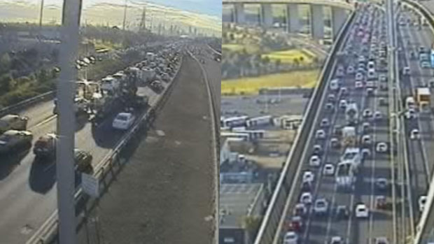 Article image for West Gate smash causes big delays