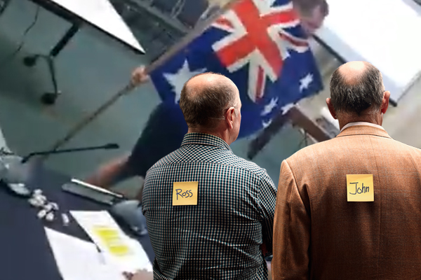 Article image for Rowdy protesters storm Yarra council meeting over Australia Day