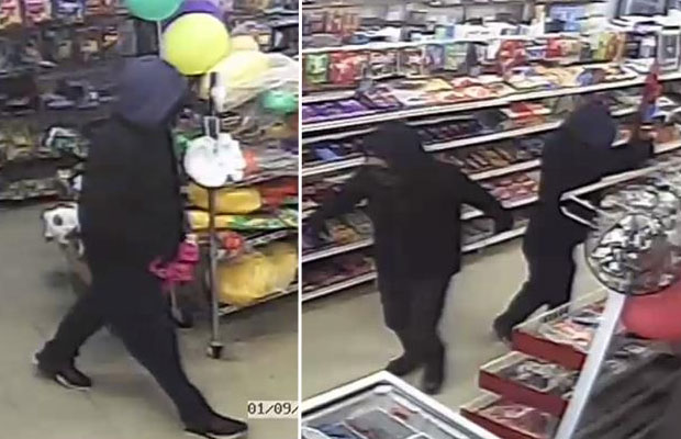 Article image for Shop attendant fights off gun-wielding intruders with broom