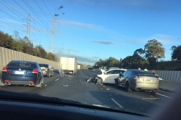Article image for Nasty Ring Road smash causing peak hour pain