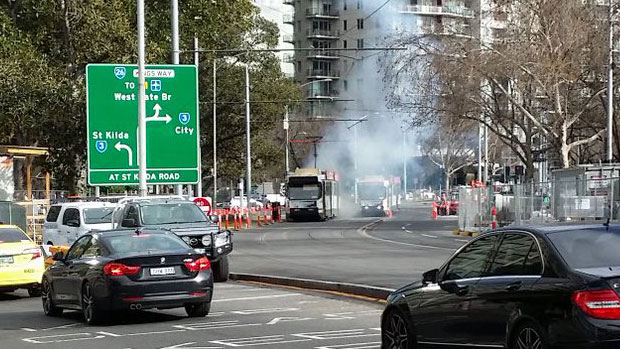 """Article image for CBD tram explosion: """"Oh my God, I feel sick!"""""""
