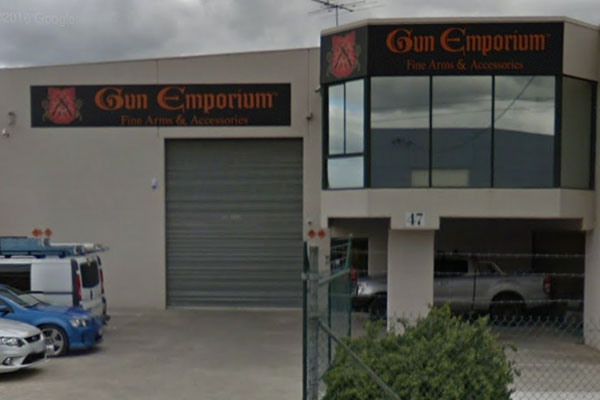 Article image for Second gun store targeted in two days