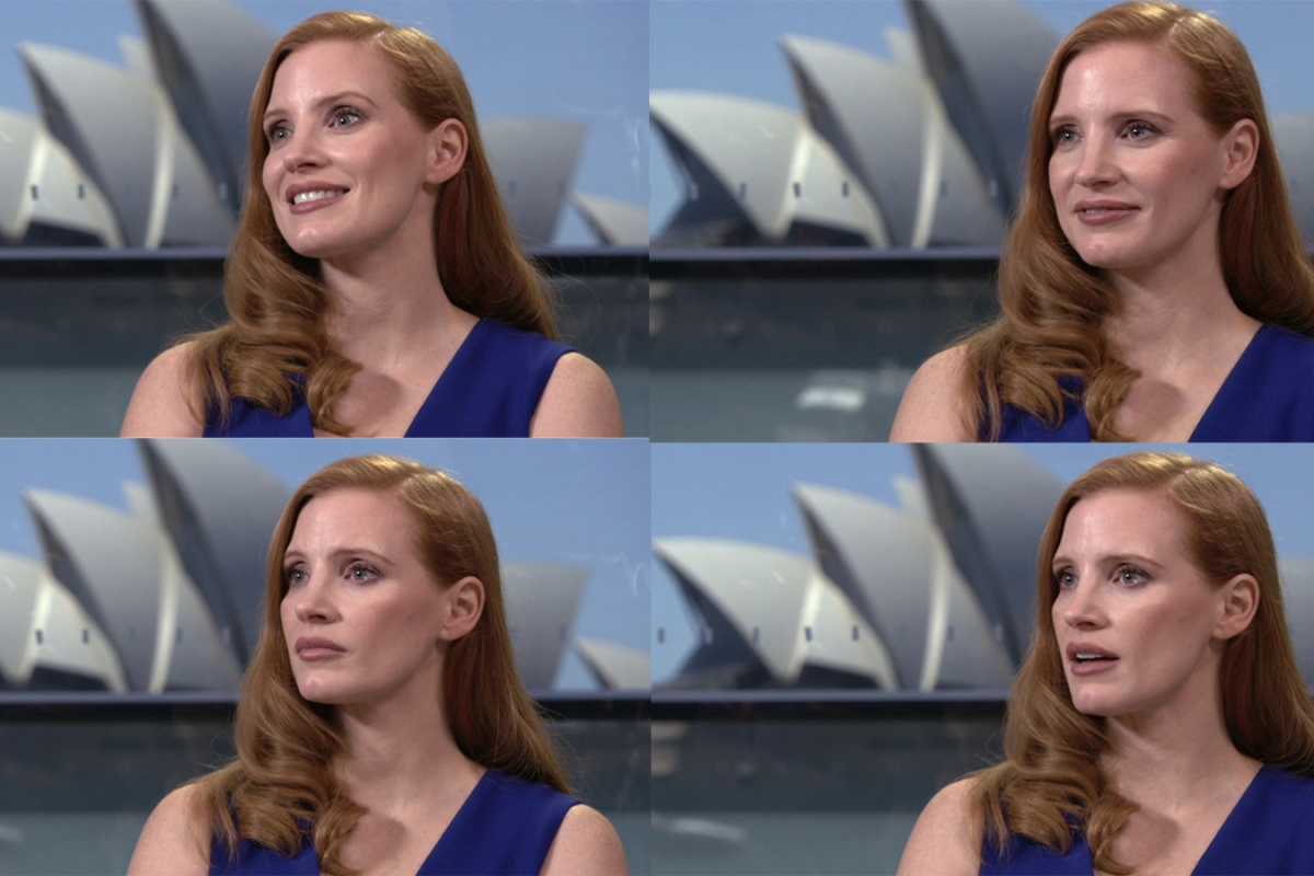 Article image for Jim Schembri with Jessica Chastain from Molly's Game