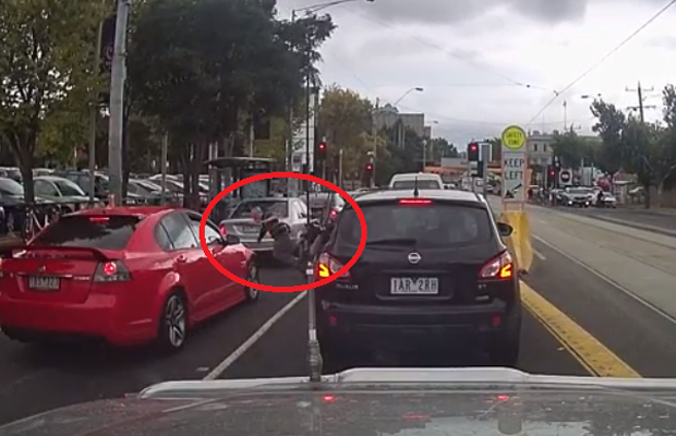Article image for Lane-filtering cyclist collides with man crossing Racecourse Road