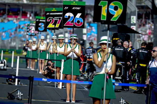 Article image for 'Women are not just decorative any more': Grid girls banned