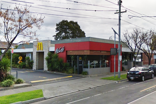 Article image for 'Wrecking rampage': Gang of men smash up Maccas in terrifying theft