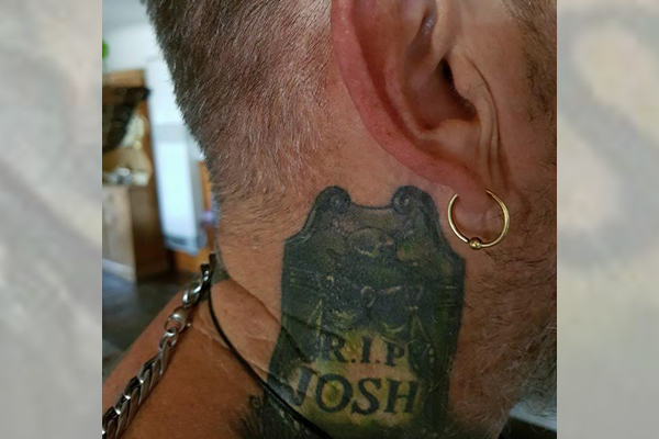Article image for Pensioner banned from Werribee hotel because of tattoo tribute to son
