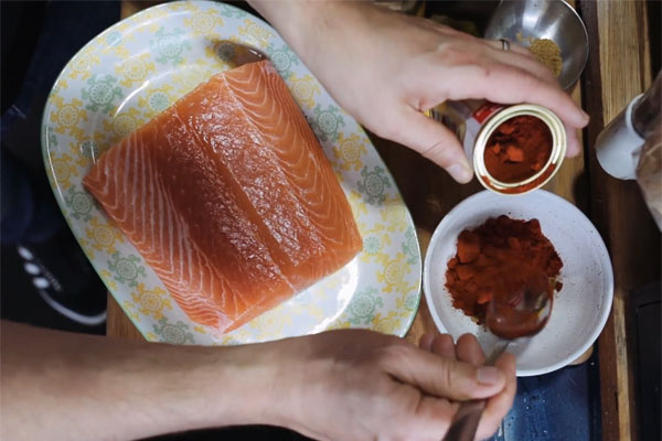 Article image for Tobie Puttock's smoky BBQ salmon