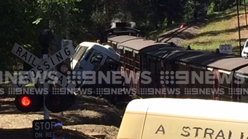 Article image for Puffing Billy collides with bus, leaving several injured