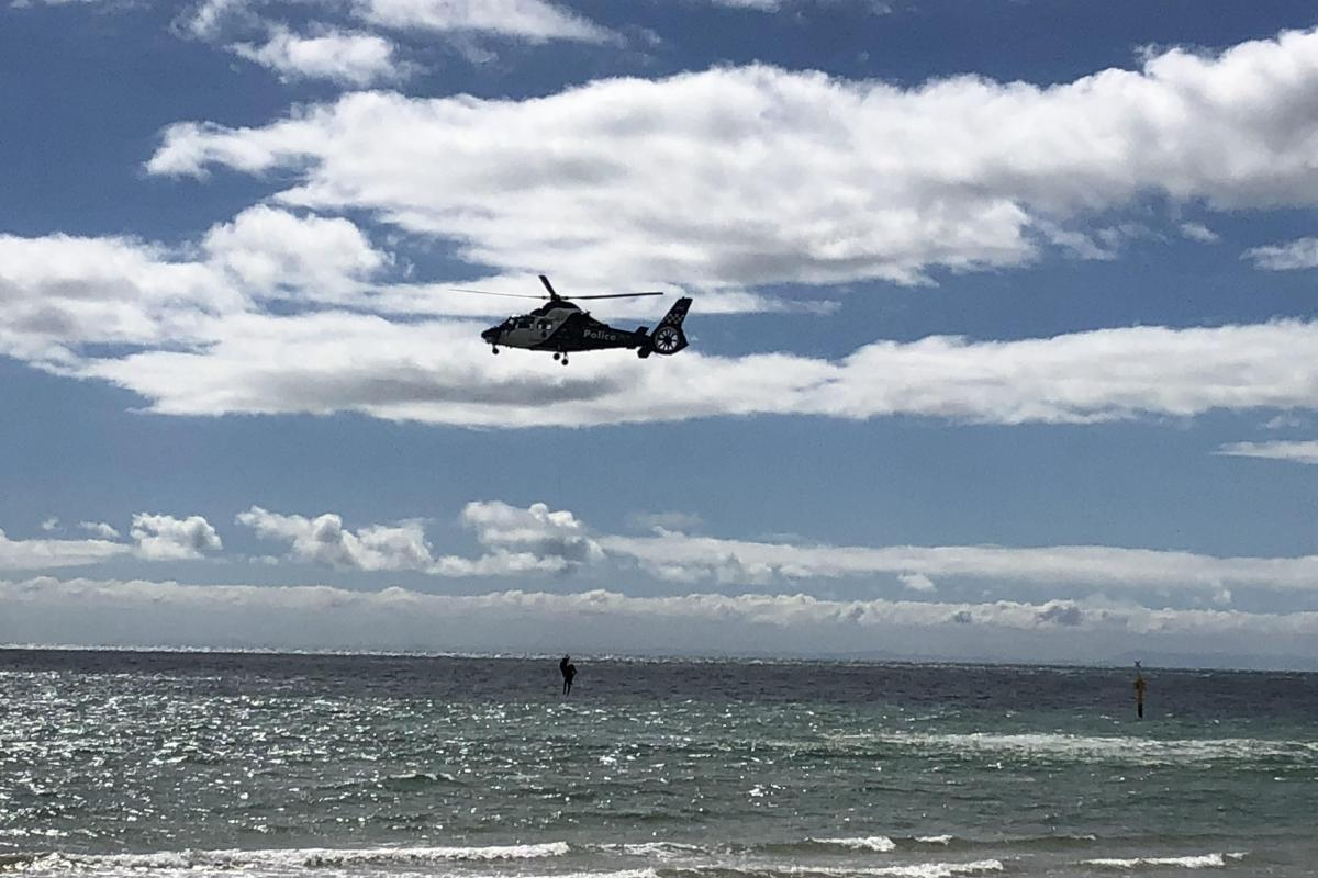 Article image for Helicopter rescues man from Port Phillip