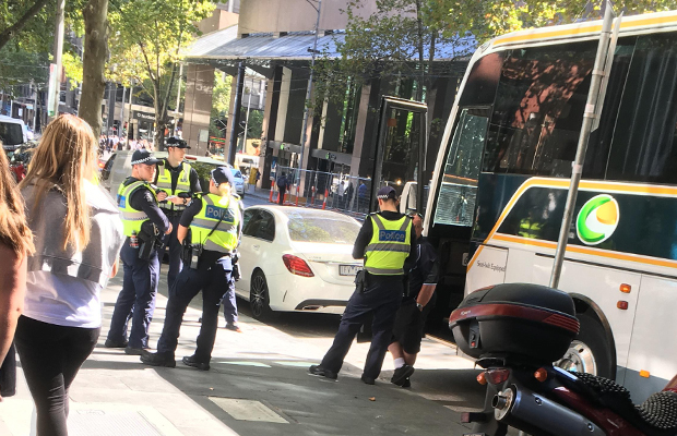 Article image for Bus drives through Bourke Street mall, sparking concerns