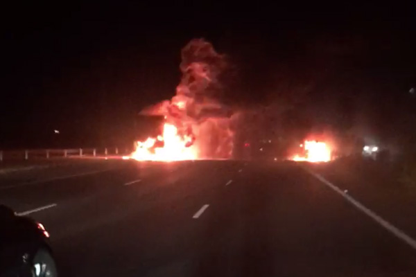 Article image for Princes Fwy explosion among a seriously bad day on Melbourne roads