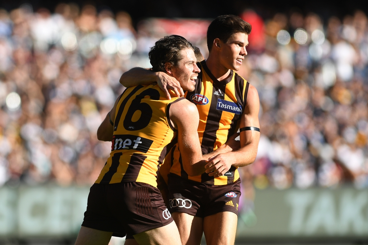 Article image for Hawthorn beats Geelong by a single point in another Easter Monday classic