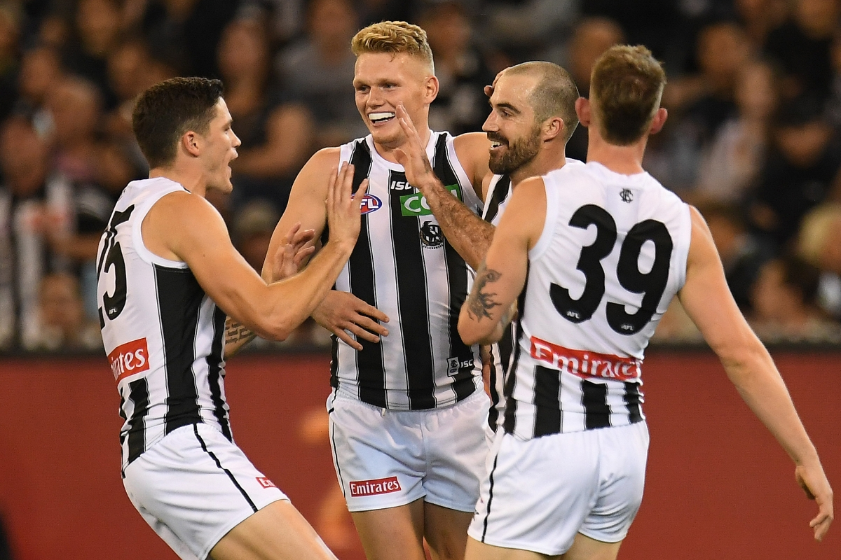 Article image for Collingwood opens its 2018 account with victory over their old rivals Carlton