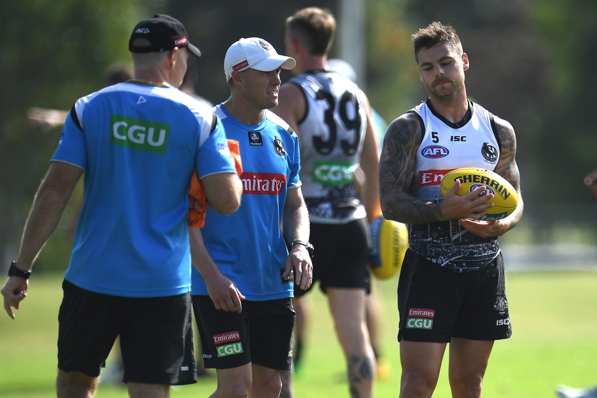 Article image for Collingwood suffers double injury blow at training