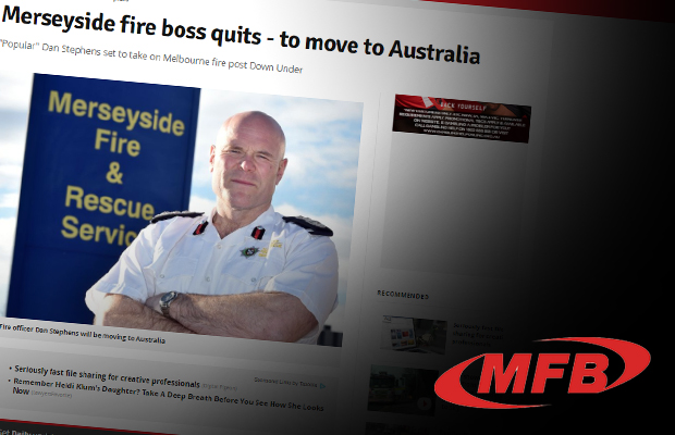 Article image for UK newspaper announces Melbourne's new top firefighter